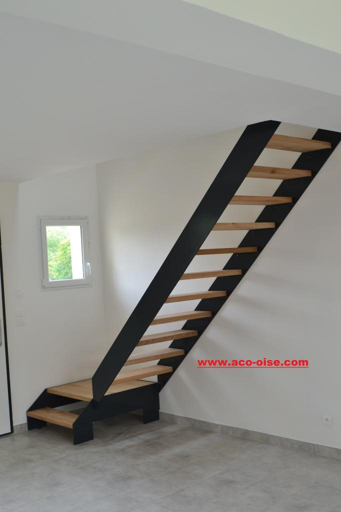 escalier sur mesure oise. Black Bedroom Furniture Sets. Home Design Ideas
