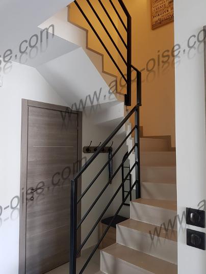 Rampes d'escalier asymétriques